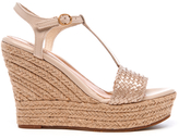 UGG Women's Fitchie II TStrap Jute Wedged Espadrille Sandals - Soft Gold