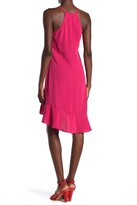 Thumbnail for your product : trina Trina Turk Zosia Halter Neck Ruffled High/Low Shift Dress