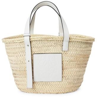 Loewe Leather-Trimmed Basket Bag