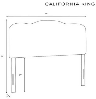 House of Hampton Macdougal Tufted Upholstered Panel Headboard Size: California King, Upholstery: Pale Gray