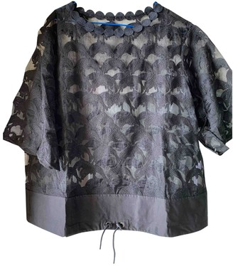 Tsumori Chisato Black Cotton Top for Women