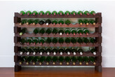 6 Layers of 12 Bottles Wine Rack Finish: Stained