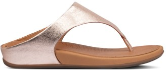 FitFlop Banda Metallic Leather Thong Sandals