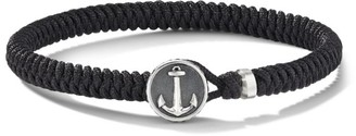 David Yurman Maritime Sterling Silver & Black Nylon Anchor Station Bracelet