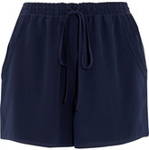 Chloé Silk-cady Shorts - Navy