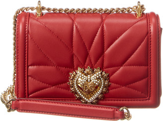 Dolce & Gabbana Small Devotion Quilted Leather Shoulder Bag