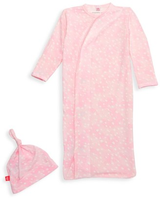 Magnetic Me Baby Girl's 2-Piece Dotted Sleep Sack & Hat Set