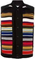 Facetasm contrast stripe vest - men - Calf Leather/Nylon/Cupro/Wool - IV