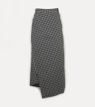 Vivienne Westwood Midi Infinity Skirt Black Small Check