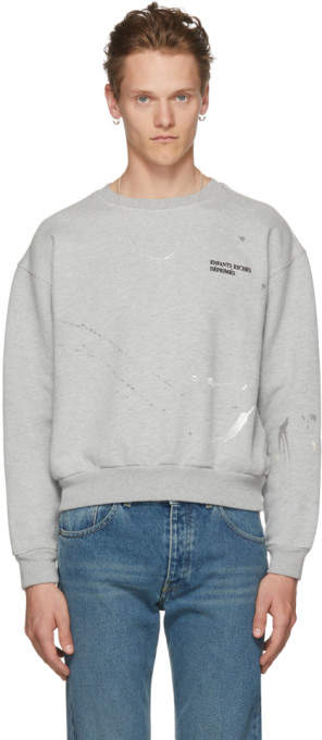 Enfants Riches Deprimes Grey Paint Logo Sweatshirt