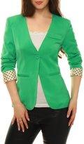 Allegra K Women Long Sleeves Button Up Irregular Hem Blouse XL