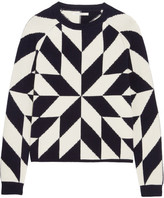 Chinti and Parker Snowflake Intarsia Wool And Cashmere-blend Sweater