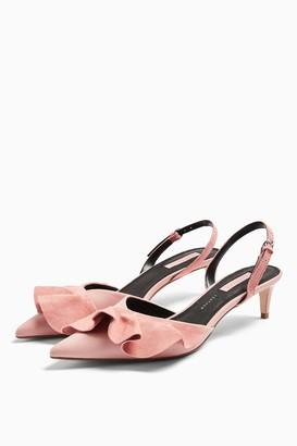 Topshop JULES Pink Frill Slingback Heels