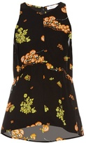 A.L.C. Stuart floral-print silk-crepe top