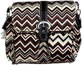 Kalencom Matte Coated Double Duty Diaper Bag, Zig Zag Black/Brown by