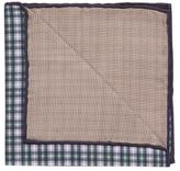 Brunello Cucinelli Checkered Print Silk Pocket Square