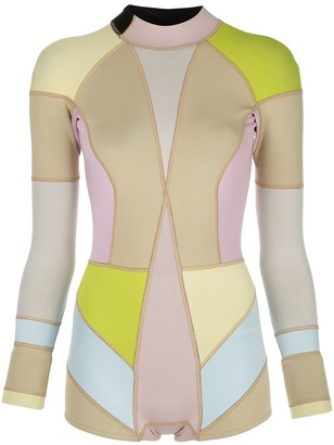 Cynthia Rowley Kalleigh colour block wetsuit