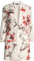 Misook Floral Slit Knit Topper