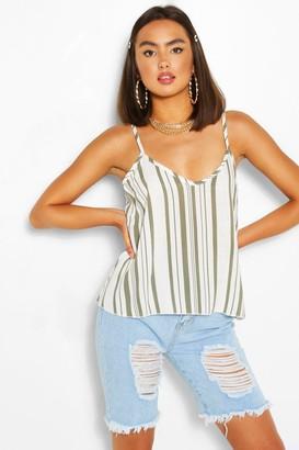 boohoo Striped Linen Camisole
