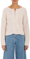 TOMORROWLAND Women's Laced-Back Cotton Sweater