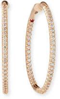 Roberto Coin 25mm 18K Gold Micro-Pave Diamond Hoop Earrings