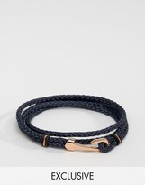 Seven London Hook Bracelet In Navy Exclusive To Asos