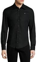 Vivienne Westwood Cotton Spread Collar Sportshirt