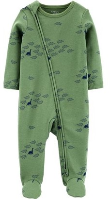 Little Planet Organic by Carter's Baby Boy Interlock Cotton Zip Up Sleep 'N Play Pajamas