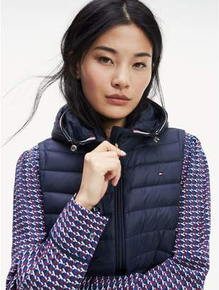 Tommy Hilfiger Packable Down Hooded Puffer Vest
