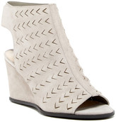 Via Spiga Leatrice Perforated Wedge Sandal