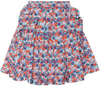MSGM Floral-printed cotton skirt