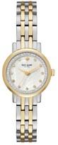 Kate Spade mini monterey glitz bracelet watch, 24mm