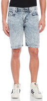 Bellfield Indianapolis Acid Wash Denim Shorts