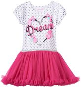 Nannette Toddler Girl Floral Glitter Mesh Dress