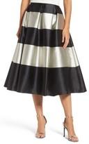 Eliza J Women's Stripe Pleated Midi Skirt