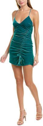 For Love & Lemons Viva Silk-Blend Mini Dress