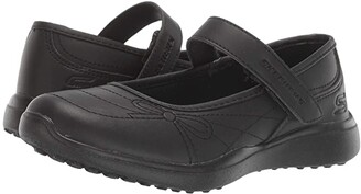 Skechers Microstrides 85715L (Little Kid/Big Kid) (Black/Black) Girl's Shoes
