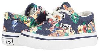 Polo Ralph Lauren Kids Keaton (Toddler) (Navy Hawaiian Bear Print) Boy's Shoes