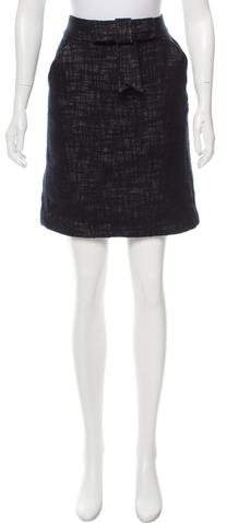 Milly Bow-Accented Knee-Length Skirt