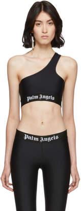 Palm Angels Black One Shoulder Bra