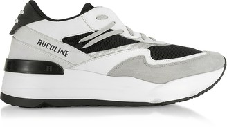 Ruco Line Black & White Nylon and Leather R-Evolve Men's Sneakers