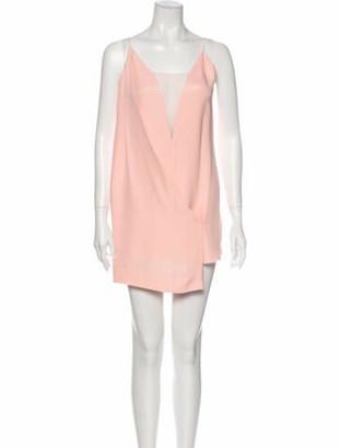 Celine V-Neck Mini Dress Pink
