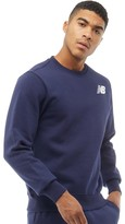 New Balance Mens Fleece Crew Sweatshirt Navy