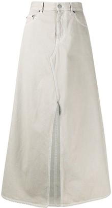 MM6 MAISON MARGIELA slit front denim skirt