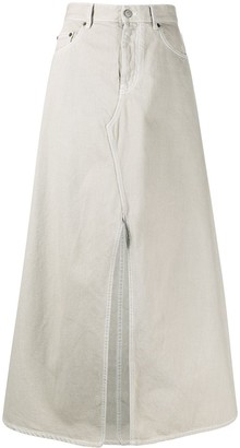 MM6 MAISON MARGIELA Slit Front Denim Skirt