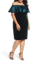 Adrianna Papell Plus Size Women's Adriana Papell Stretch Velvet Sheath Dress