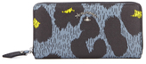Vivienne Westwood Leopardmania Women's Zip Around Wallet Grey