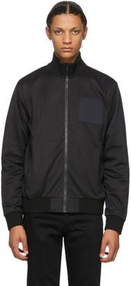 Givenchy Black Address Logo Patch Bomber Jacket