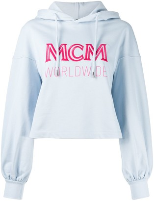 MCM Embroidered Logo Oversized Hoodie