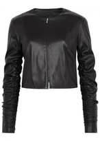 The Row Ranza Cropped Leather Jacket
